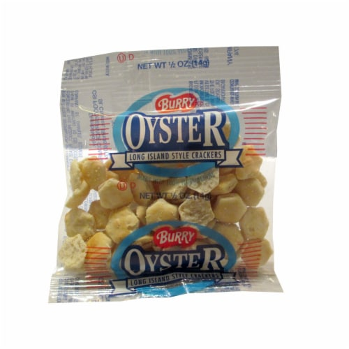 Burry Small Oyster Crackers - 0.5 oz. bag, 150 per case Perspective: front