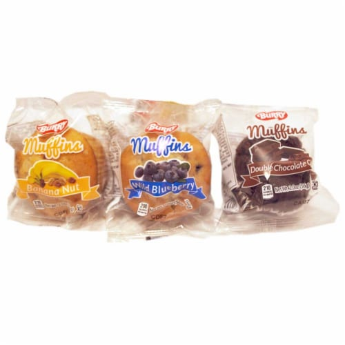 Burry Individually Wrapped Variety Cake Muffin, 2 Ounce -- 120 per case. Perspective: front