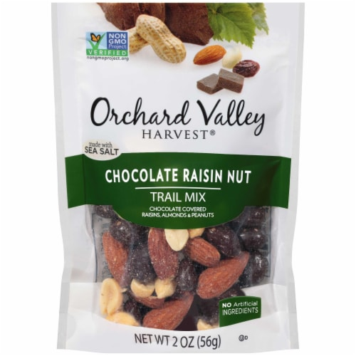 Orchard Valley Chocolate Raisin Nut Trail Mix, 2 Ounce -- 14 per case. Perspective: front