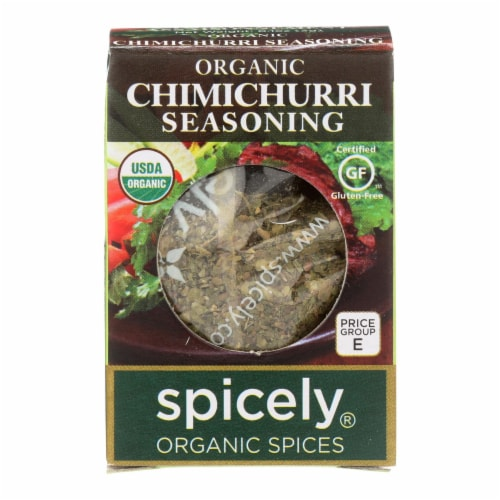 Spicely Organics - Organic Seasoning - Chimichurri - Case of 6 - 0.1 oz. Perspective: front