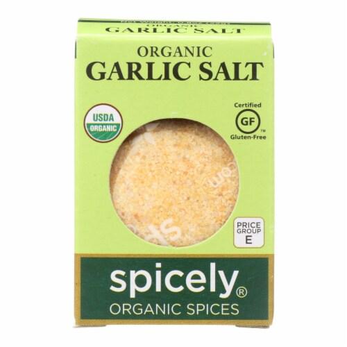 Spicely Organics - Organic Garlic Salt - Case of 6 - 0.8 oz. Perspective: front
