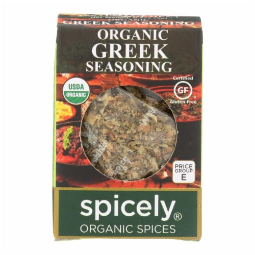 Spicely Organics - Organic Greek Seasoning - Case of 6 - 0.2 oz. Perspective: front