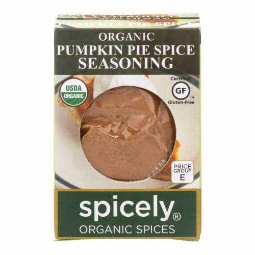 Spicely Organics - Organic Seasoning - Pumpkin Pie Spice - Case of 6 - 0.35 oz. Perspective: front