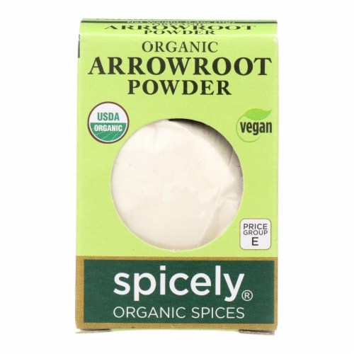 Spicely Organics - Organic Arrowroot - Case of 6 - 0.4 oz. Perspective: front