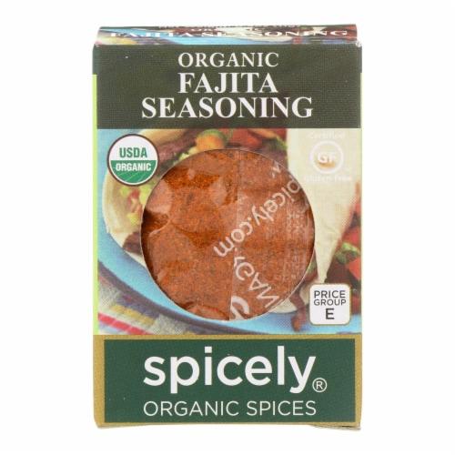 Spicely Organics - Organic Fajita Seasoning - Case of 6 - 0.4 oz. Perspective: front