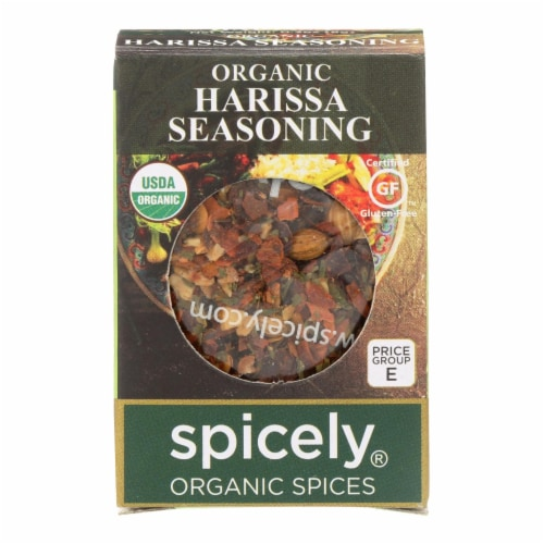 Spicely Organics - Organic Harissa Seasoning - Case of 6 - 0.3 oz. Perspective: front