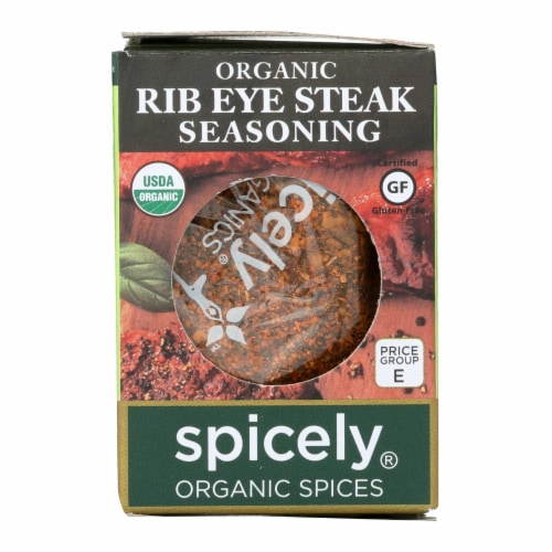 Spicely Organics - Organic Steak Seasoning - Case of 6 - 0.6 oz. Perspective: front