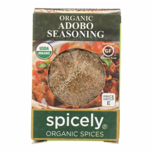 Spicely Organics - Organic Adobo Seasoning - Case of 6 - 0.4 oz. Perspective: front