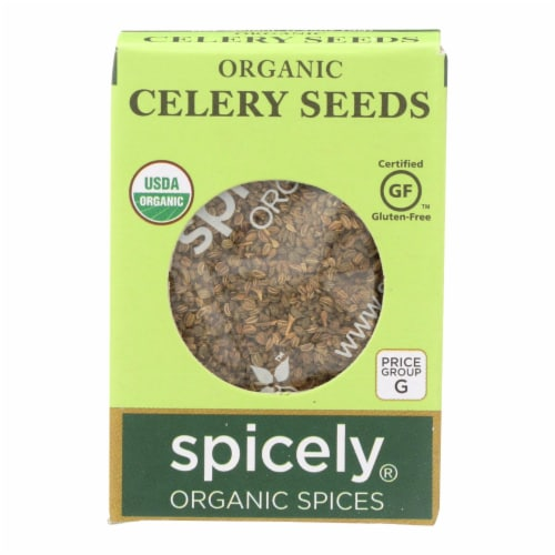 Spicely Organics - Organic Celery Seeds - Case of 6 - 0.35 oz. Perspective: front