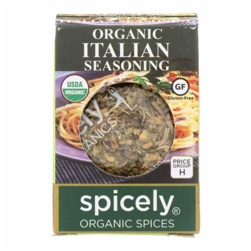 Spicely Organics - Organic Italian Seasoning - Case of 6 - 0.1 oz. Perspective: front