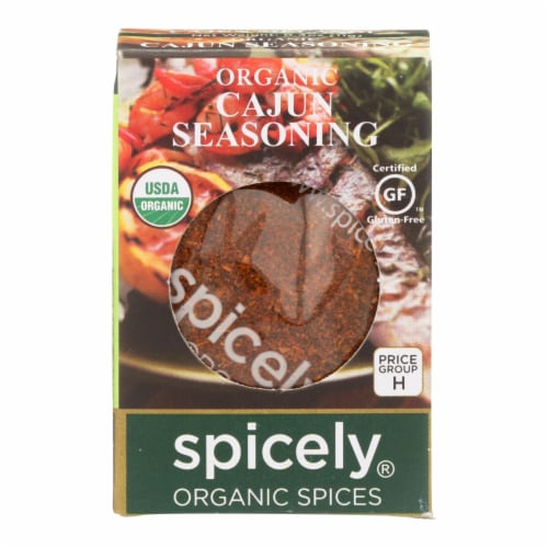 Spicely Organics - Organic Cajun Seasoning - Case of 6 - 0.4 oz. Perspective: front