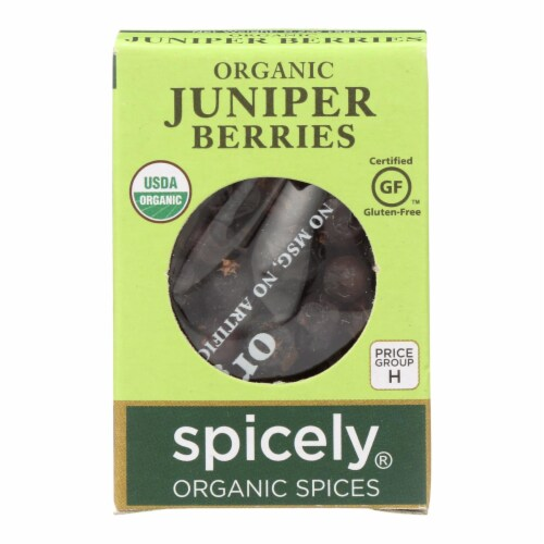 Spicely Organics - Organic Juniper Berries - Case of 6 - 0.2 oz. Perspective: front