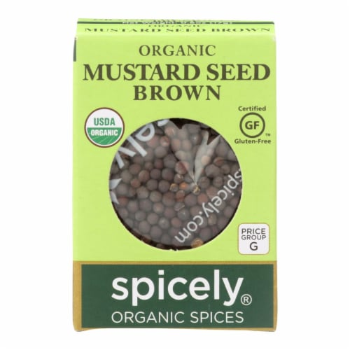 Spicely Organics - Organic Mustard Seed - Brown - Case of 6 - 0.6 oz. Perspective: front