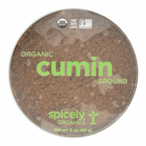 Spicely Organics - Organic Cumin - Ground - Case of 2 - 3 oz. Perspective: front