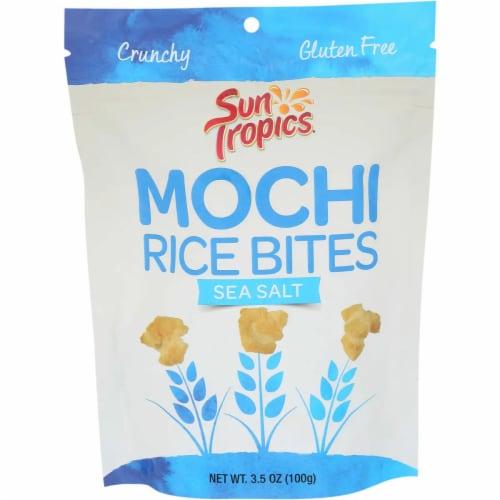Sun Tropics Mochi Sea Salt Snack Bites Gluten & Dairy Free , 3.5oz (pack of 12) Perspective: front