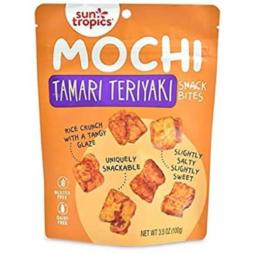 Sun Tropics Mochi Tamari Teriyaki Snack Bites Gluten & Dairy Free , 3.5oz (pack of 12) Perspective: front