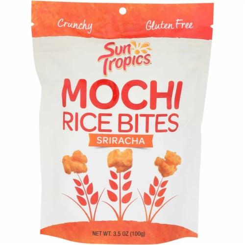 Sun Tropics Mochi Thai Bird Sriracha Snack Bites Gluten & Dairy Free , 3.5oz (pack of 12) Perspective: front