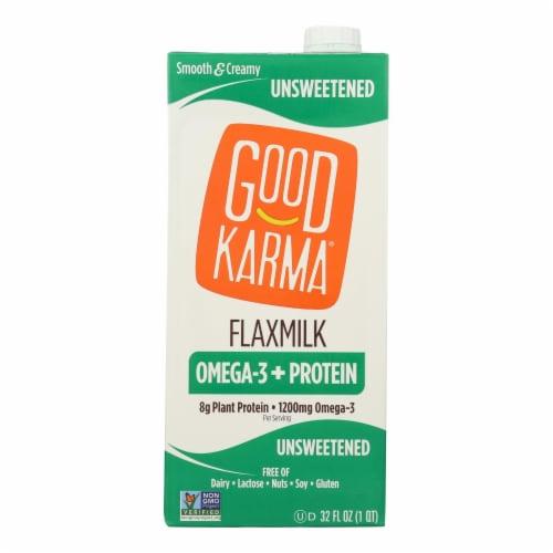 Good Karma Flax Milk - Protein - Vanilla - Case of 6 - 32 fl oz Perspective: front