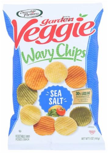 Sensible Portions Garden Veggie Wavy Chips Sea Salt, 5oz (Pack of 12) Perspective: front