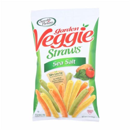Sensible Portions Garden Veggie Straws - Sea Salt - Case of 12 - 5 oz. Perspective: front