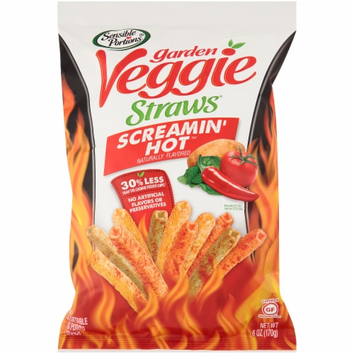 Sensible Portions Garden Veggie Straws Screamin Hot,  6 oz (Pack of 6) Perspective: front