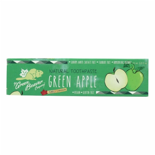 Green BeaverThe Toothpaste - Green Apple Toothpaste - Case of 1 - 2.5 fl oz. Perspective: front