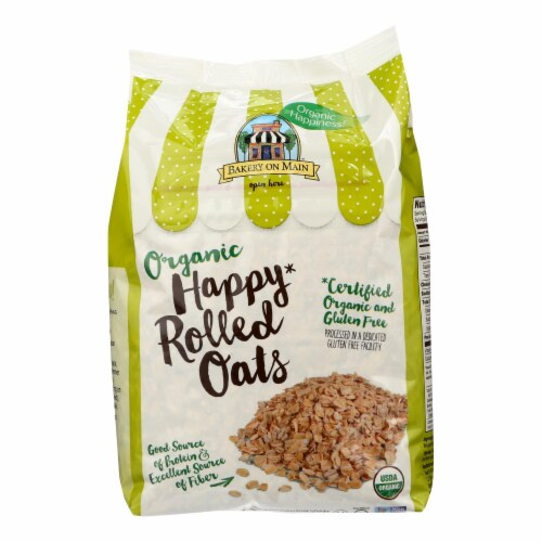 Bakery On Main Organic Happy Rolled Oats - Gluten Free - Case of 4 - 24 oz Perspective: front