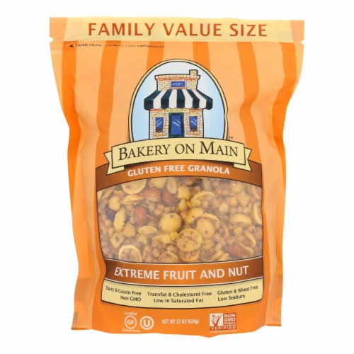 Bakery On Main  Extreme Fruit and Nut Granola Cereal - Case of 4 - 22 oz. Perspective: front