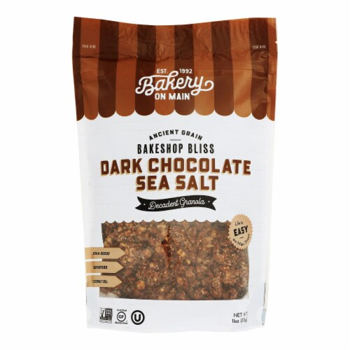 Bakery On Main Bunches of Crunches Granola - Dark Chocolate Sea Salt - Case of 6 - 11 oz. Perspective: front