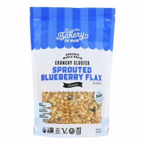 Bakery On Main Organic Happy Granola - Sprouted Blueberry Flax - Case of 6 - 11 oz Perspective: front