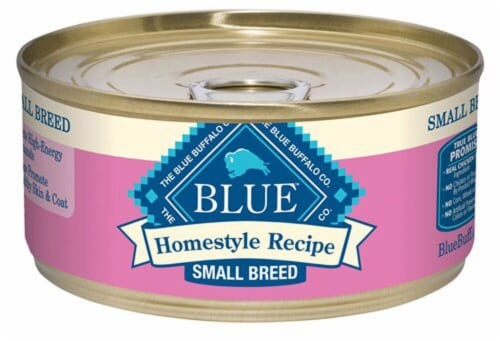 Blue Buffalo Homestyle Recipe Small Breed Chicken Flavor Wet Dog Food Perspective: front