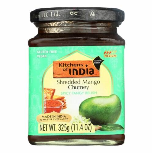 Kitchen of India Chutney - Shredded Mango - Case of 6 - 11.4 oz Perspective: front