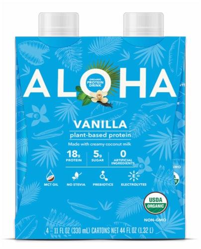 Aloha Vanilla Organic Protein Drink Perspective: front