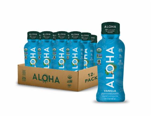 Aloha Organic Plant Based Vanilla Protein Shake Perspective: front