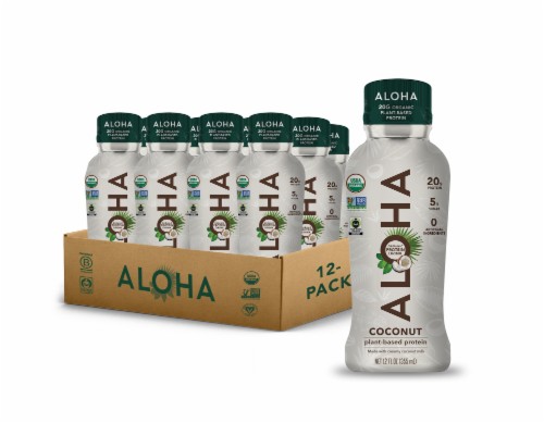 Aloha Organic Plant Based Coconut Protein Shake Perspective: front