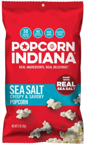 Popcorn Indiana Sea Salt Popcorn, 2.1 Ounce -- 6 per case. Perspective: front