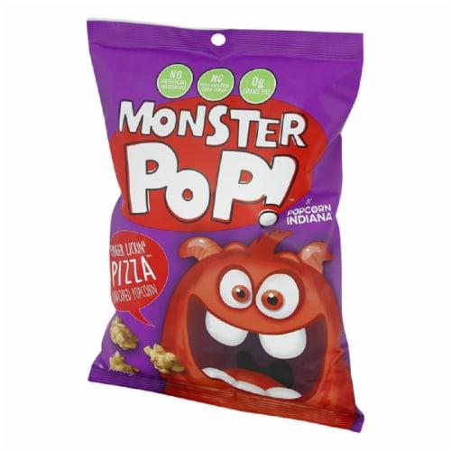 Monster Pop! Finger Lickin' Pizza Popcorn , 6.5 oz (Pack of 12) Perspective: front