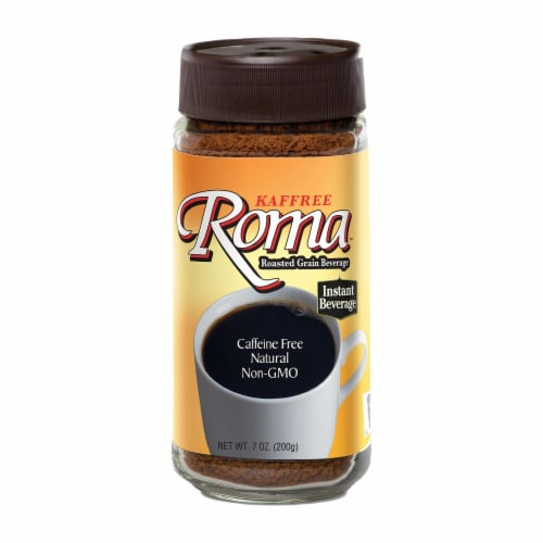 Kaffree Instant Roasted Grain Beverage - Roma - Case of 6 - 7 oz. Perspective: front