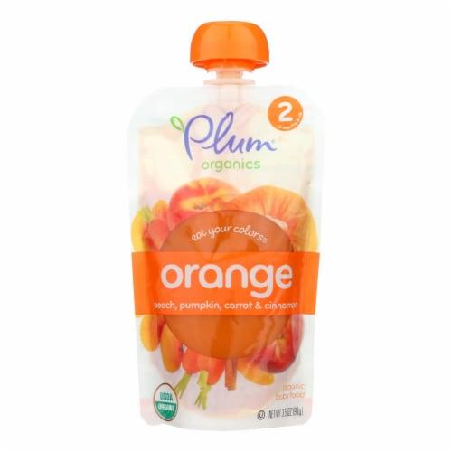 Plum Baby Peach Pumpkin Carrot Cinnamon Baby Food Perspective: front