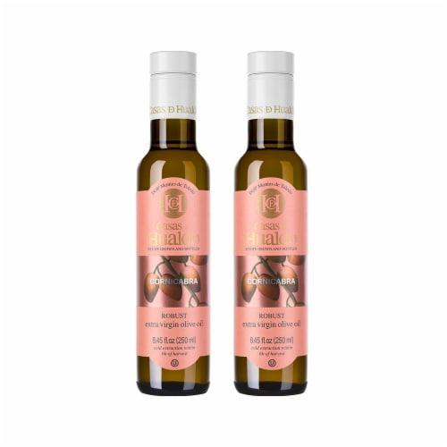 Single Varietal Cornicabra Extra Virgin Olive Oil. Pack 2 x 8.5 fl oz (250 ml) Perspective: front