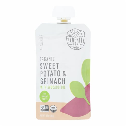 Serenity Kids Llc - Pouch Sweet Pot Spinach - Case of 6 - 3.5 OZ Perspective: front
