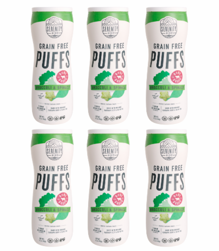 Serenity Kids Grain Free Broccoli & Spinach Bone Broth Puffs Perspective: front