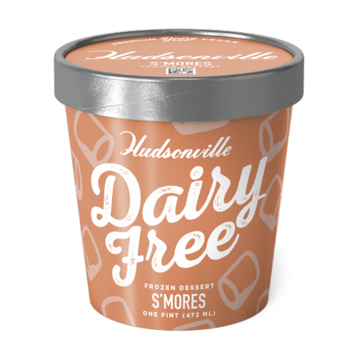 Hudsonville, Dairy Free S'mores, 16 oz. Pint (8 Count) Perspective: front