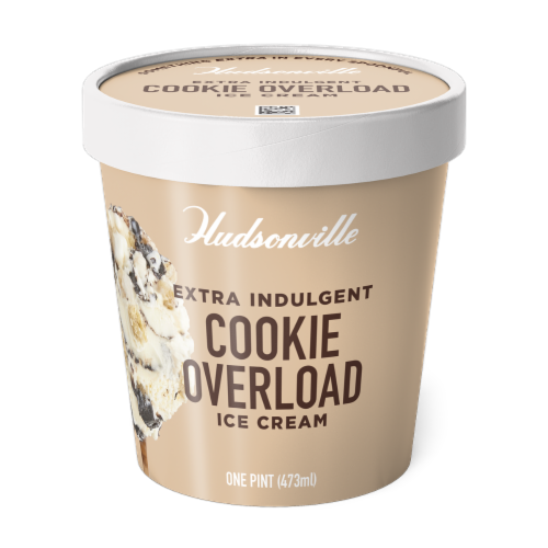 Hudsonville, Cookie Overload, 16 oz. Pint (8 Count) Perspective: front