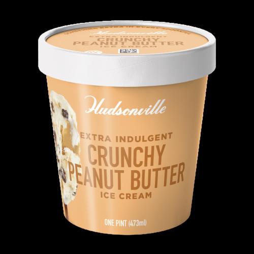 Hudsonville, Crunchy Peanut Butter, 16 oz. Pint (8 Count) Perspective: front