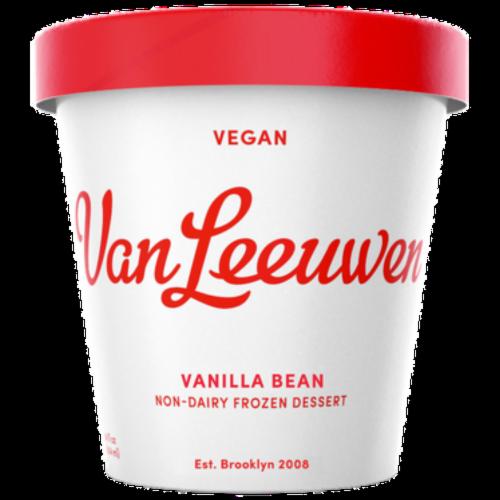 Van Leeuwen Vegan Vanilla Bean Frozen Dessert (8 Count) Perspective: front