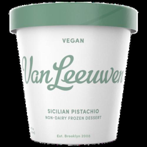 Van Leeuwen Vegan Sicilian Pistachio Ice Cream (8 Count) Perspective: front