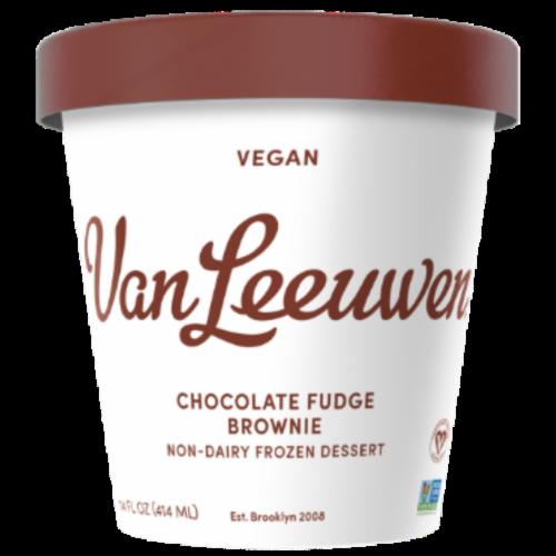 Van Leeuwen Vegan Chocolate Fudge Brownie Ice Cream (8 Count) Perspective: front