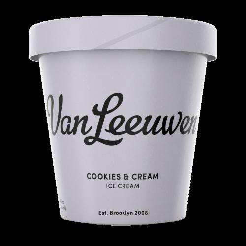Van Leeuwen Cookies & Cream Frozen Dessert  (8 Count) Perspective: front
