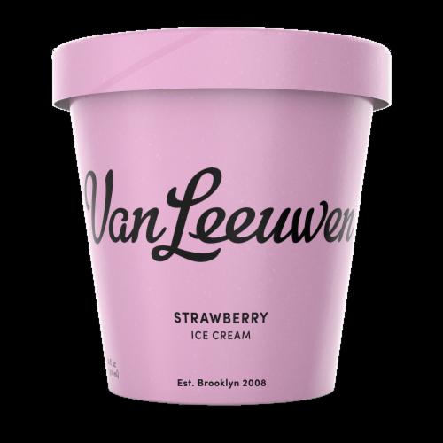 Van Leeuwen Strawberry Ice Cream (8 Count) Perspective: front